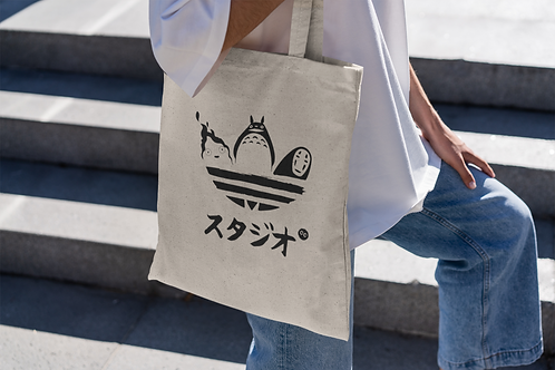 Studio Ghibli Adidas Inspired Tote Bag