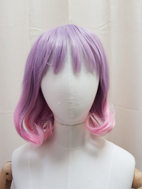 Short Purple with Pink Locks Wig