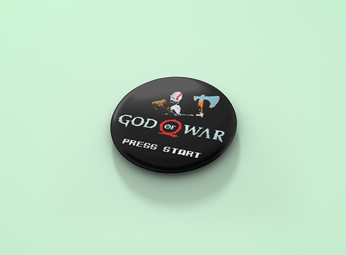 God of War Press Start Pin