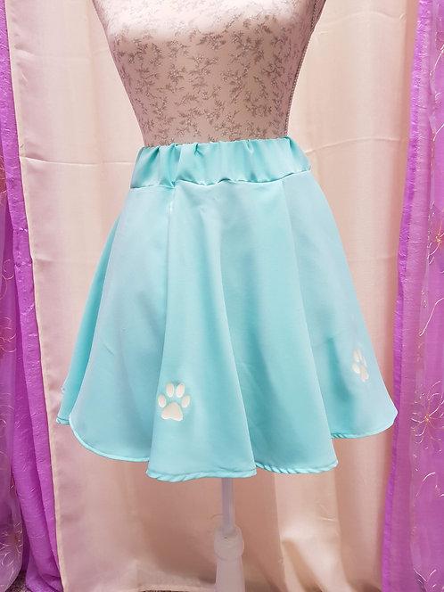 Light Green  Cat Paws Skirt