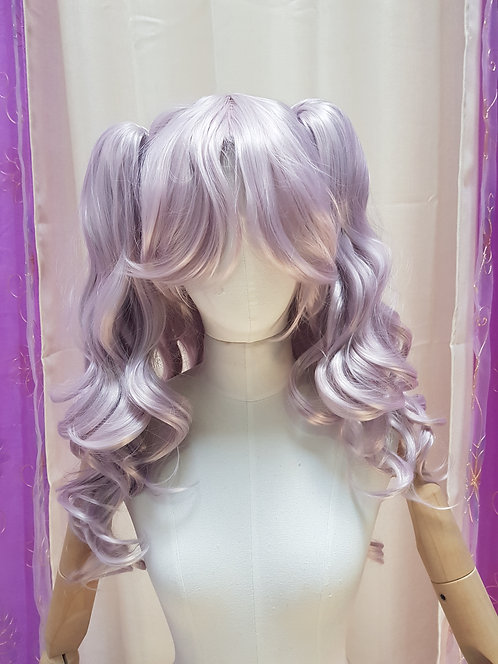 Curly Long Peach Wig