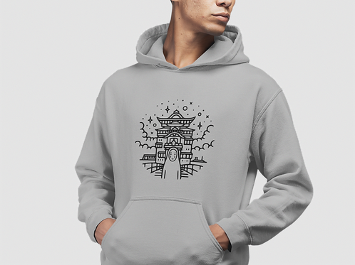 Spirited Away - No Face and Yubaba's Bathhouse Hoodie