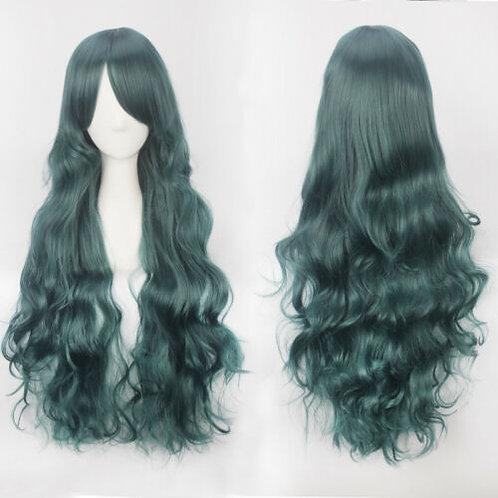 Curly Long Dark Green Wig