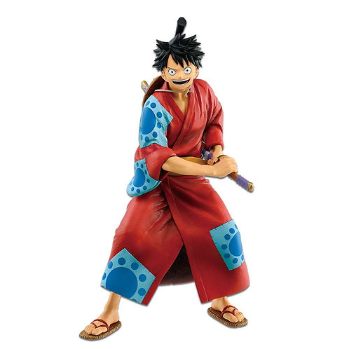 One Piece Figure Monkey D. Luffy Japanese Style 25 cm