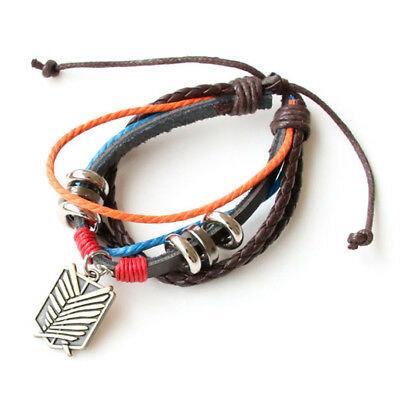 Attack on Titan Survey Corps Leather Bracelet