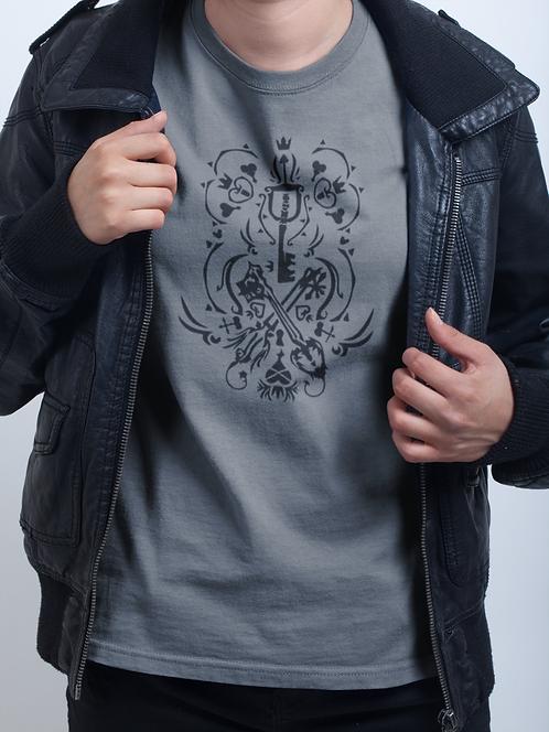 Kingdom Hearts Heartless Kingdom Key Oathkeeper Oblivion Keyblades T-Shirt