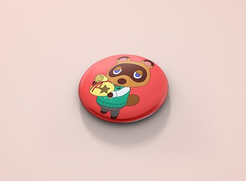 Animal Crossing Tom Nook Bag Pin