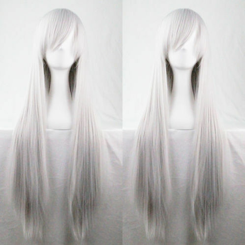 Long Straight Grey 60cm Wig
