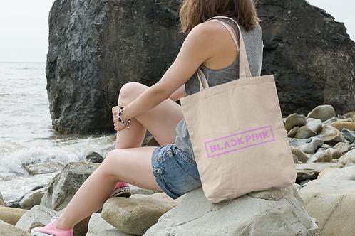 K-POP Black Pink Logo Tote Bag