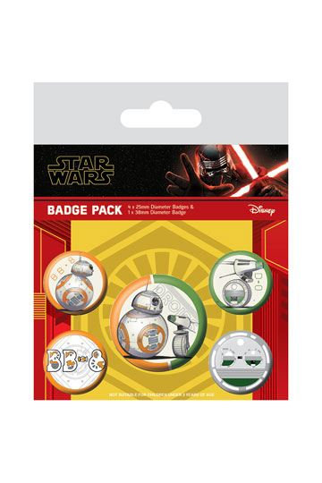 Star Wars Episode IX Pin Badges 5-Pack Droids
