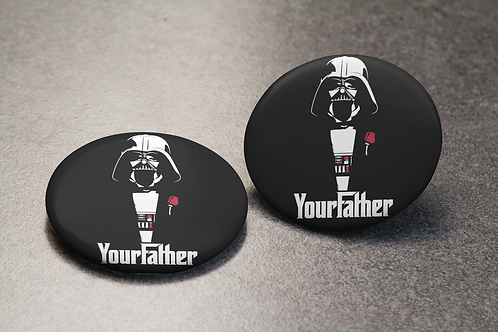 The Godfather Inpired Star Wars YourFather Pin