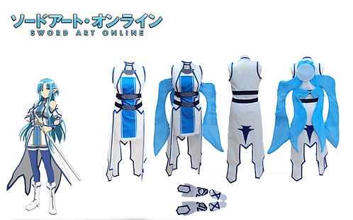 Sword Art Online Asuna Blue Fairy Cosplay