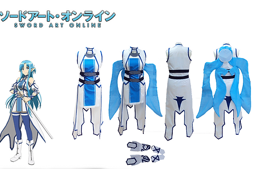 Sword Art Online Asuna Blue Fairy Cosplay