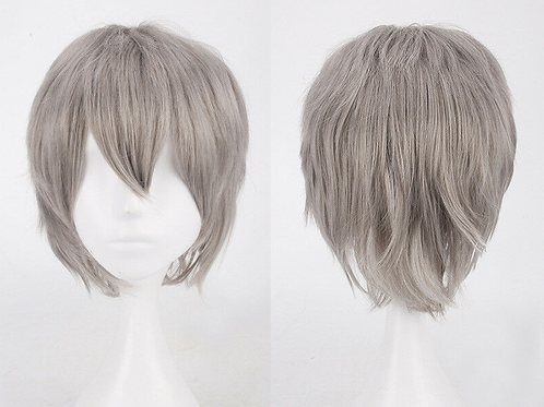Short Dark Grey Wig