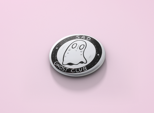 Undertale Sad Ghost Club Pin