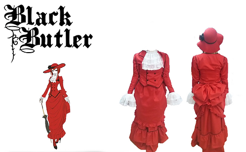 Black Buttler Lady Red Cosplay