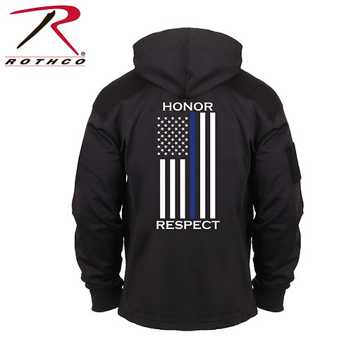 Honor and Respect Thin Blue Line Concealed Carry Hoodie - Black