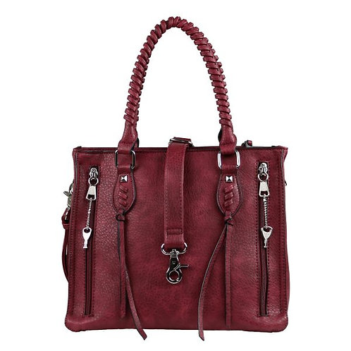 Concealed Carry Amy Studded Satchel