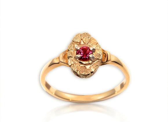 January Oval Birthstone Ring - Garnet