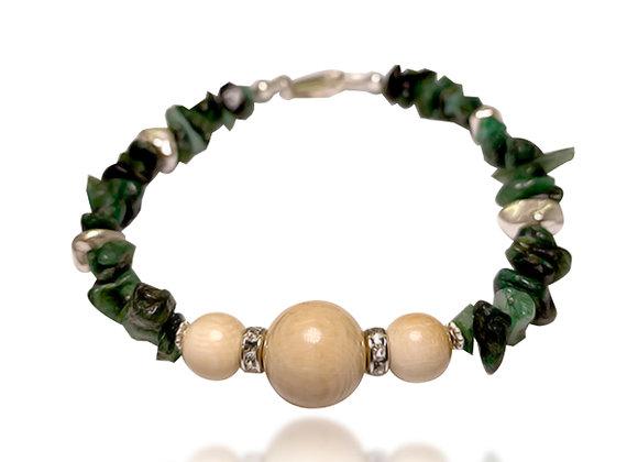 Emerald & Mammoth Ivory Bracelet