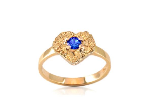 September Heart Birthstone Ring - Sapphire