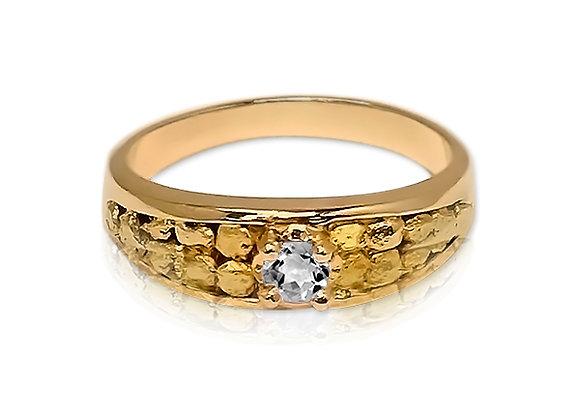 April Tapered Sluice Birthstone Ring - Diamond