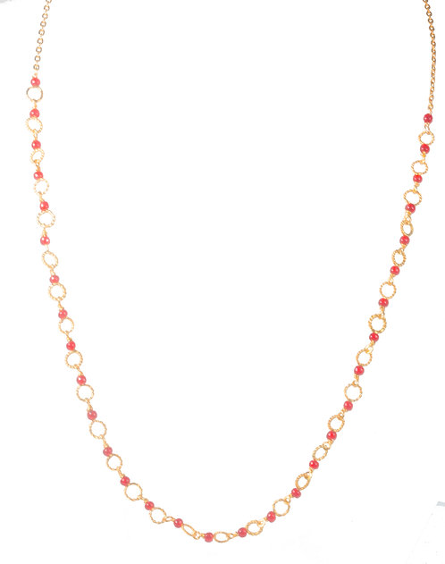Cirkel necklace/ red agat