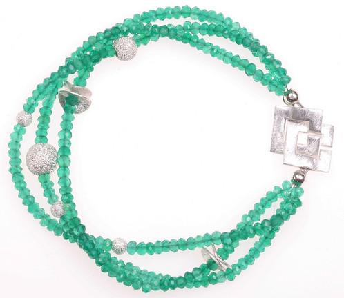 Starlight Green Designer Jewelry Handmade Danish Design by Anne Kaas