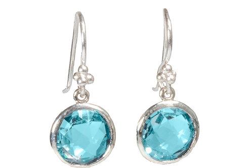Topas earring sterling silver