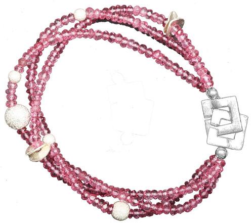 Starlight Pink Designer Jewelry Handmade Danish Design by Anne Kaas