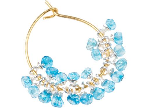 Silverline Hoop blue crystal
