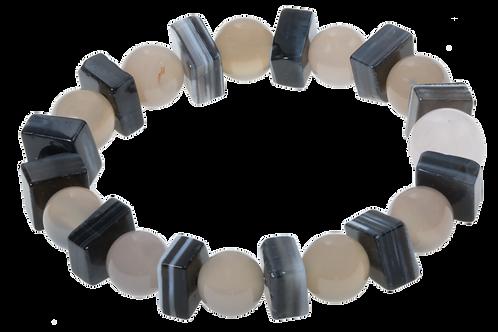 Agar & gray onyx bracelets
