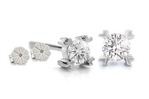 Earstud, white gold with diamant