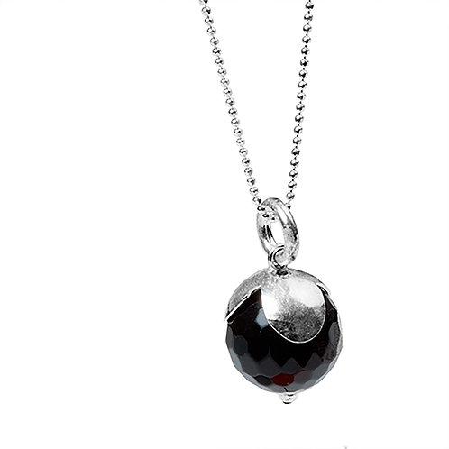 Black beauty  necklace 925
