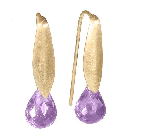Clasic Earrings/ ametyst