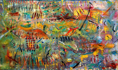 Oil on Canvas Resin Finish