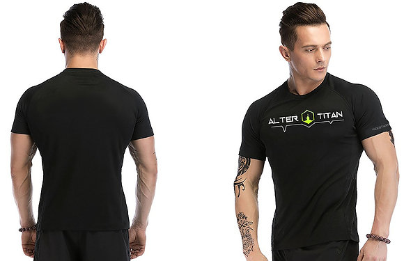 Black Fitness Shirt (Shipping Cost Included)