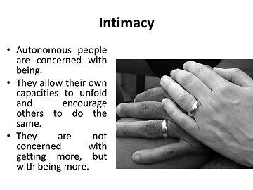 Sacred Union, Intimacy And Communication