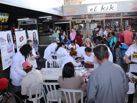 Saúde renal: mandatos promovem ação na Rodoviária de Porto Alegre