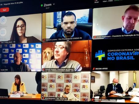 Deputada Liziane Bayer participa de reunião que debate o enfrentamento à pandemia da Covid-19
