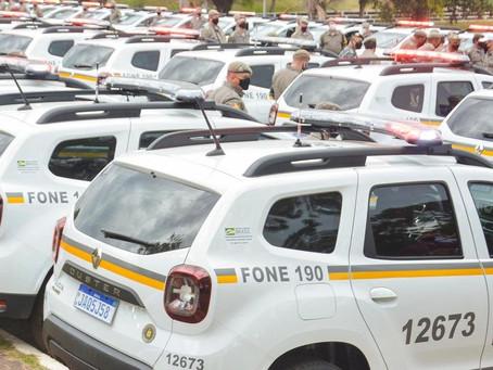 Brigada Militar recebe reforço de 221 novas viaturas para o combate à criminalidade