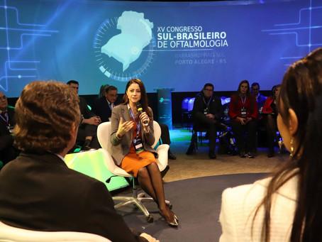 Liziane participa de debate sobre políticas públicas de saúde ocular