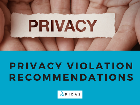 Privacy Violation Recommendations - 2nd notification