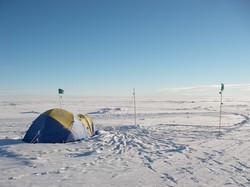 Tent in Westarctica