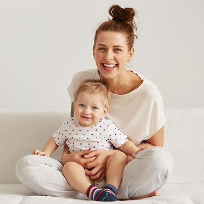 Happy Mother with her Child