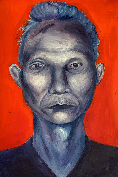 Cambodian Blue Man