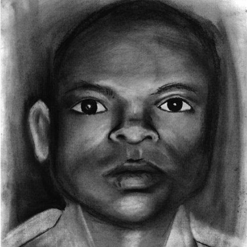 Cambodian boy in graphite
