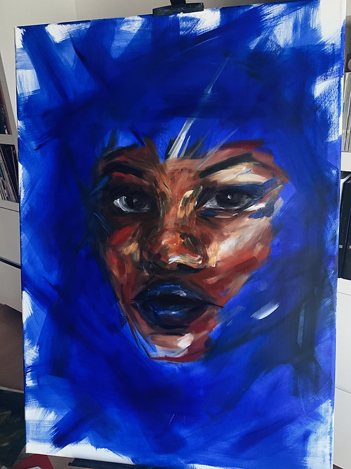 olu large blue portrait.contact for price.