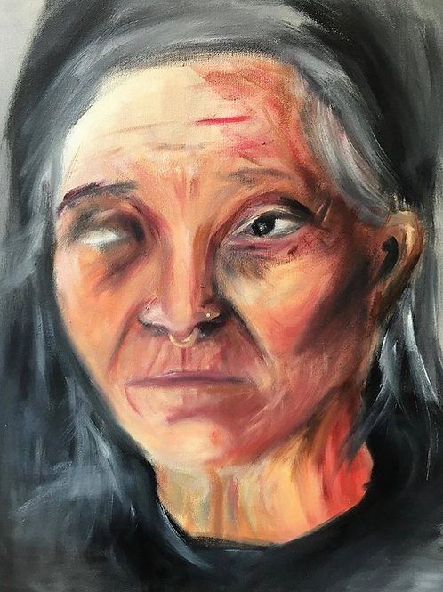 """unfinished"" nepalese lady"