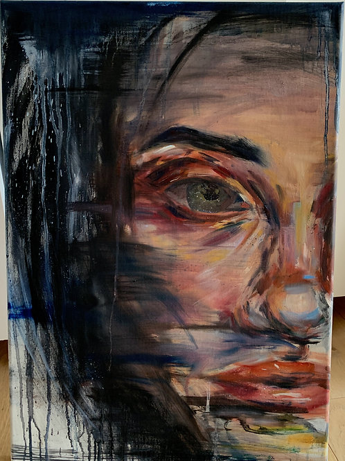 large oil painting girl.